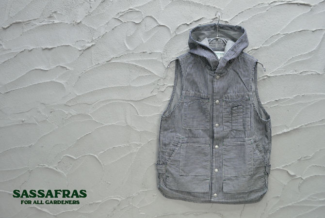 SASSAFRAS Tree Chopper Bud Vest(6.5oz Hickory Denim)