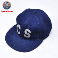 EBBETS FIELD FLANNELS  Denim 6 Pannel Ball Cap(CHICKEN SHACK別注