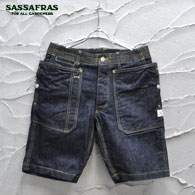 SASSAFRAS Fall Leaf Sprayer Pants1/2(13.5oz Denim)