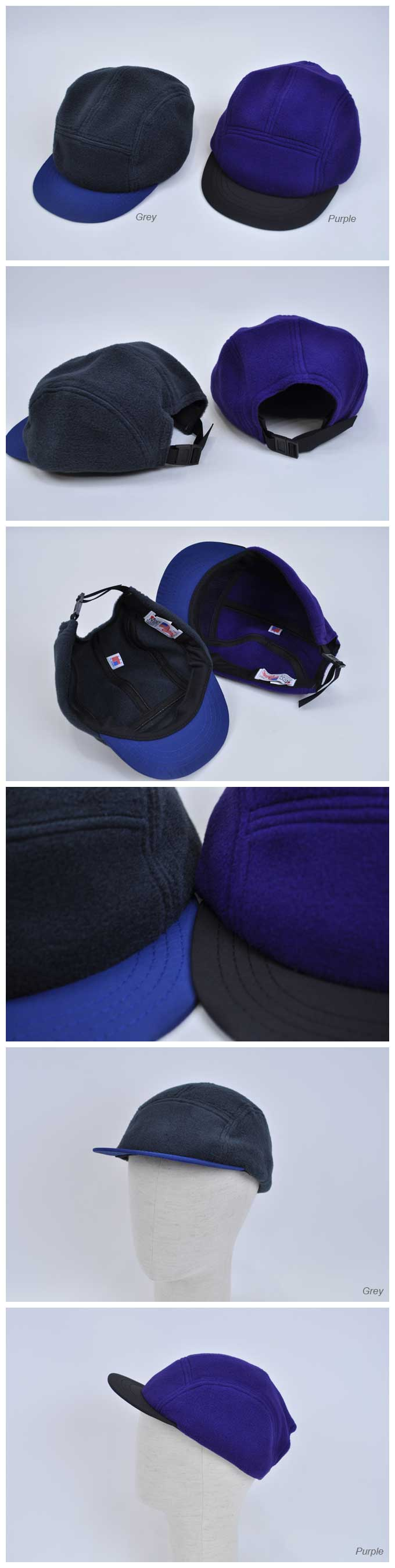 NEW ENGLAND CAP Polartec Fleece/Nylon High Crown Cap