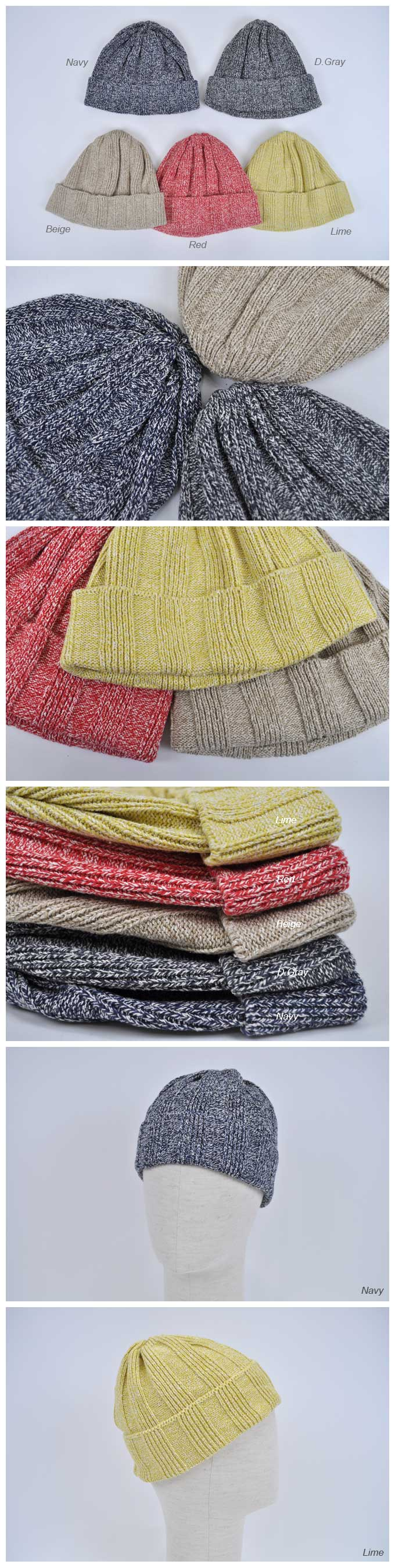 Rototo Mix Silk Cotton Beanie