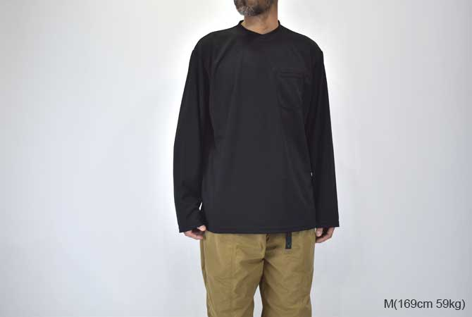 ENGINEERED GARMENTS Long Sleeve Crew (Eagle Flat Back Mesh)