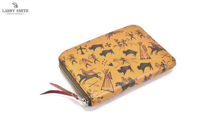 LARRY SMITH LT-0111 Round Fastener Wallet(M) / Tipi Art