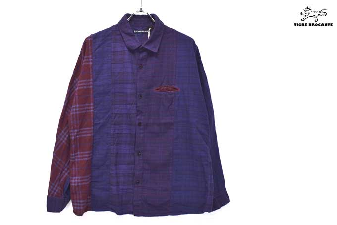 TIGRE BROCANTE Stallman Regular Shirt (Mix Flannel Check)