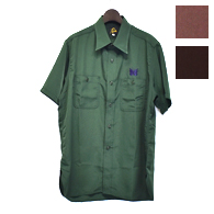 Needles S/S WORK SHIRT - POLY CLOTH